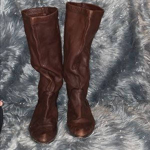 Frye boots leather soft brown